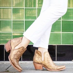 Ariat Dixon Distressed Gold Western Booties
